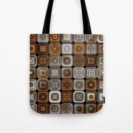 Geometric chocolate pattern Tote Bag