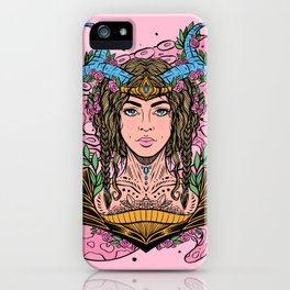 Viking Maiden, Variant I (Daily Sketch Series) iPhone Case