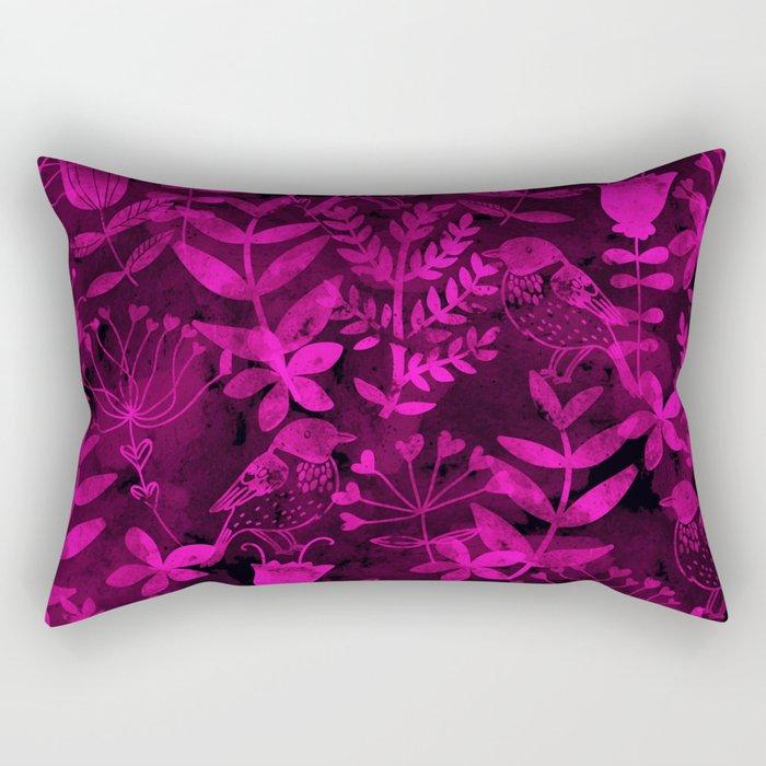 Abstract Botanical Garden III Rectangular Pillow