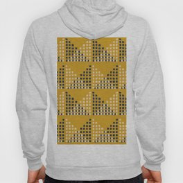 Layered Geometric Block Print in Mustard Hoody