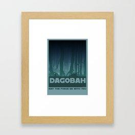 Dagobah planet Framed Art Print