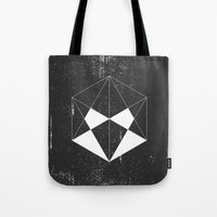 hexagon Tote Bags featuring Hexagon by eARTh