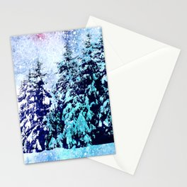 The magic of winter wonderland Stationery Cards