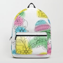 happy easter color flowers Backpack
