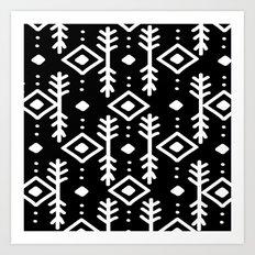 BLACK NORDIC Art Print