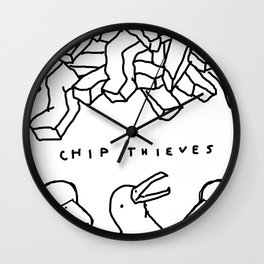 CHIP THIEVES Wall Clock