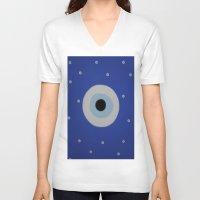 evil eye V-neck T-shirts featuring Evil Eye by S Joyce