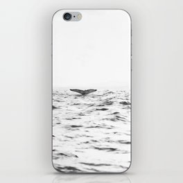 WHITE - SEA - WAVES - WATER - WHALE - NATURE - ANIMAL - PHOTOGRAPHY iPhone Skin