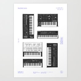 Collection : Synthetizers Art Print