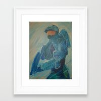 master chief Framed Art Prints featuring Master Chief by s block