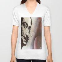 salvador dali V-neck T-shirts featuring salvador dali by Joedunnz