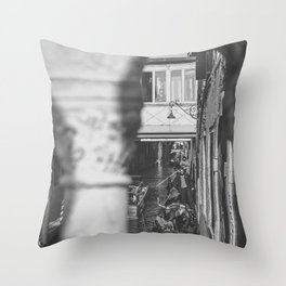 A view of Venice in B/W Throw Pillow