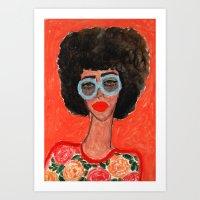 Afro Babe Art Print