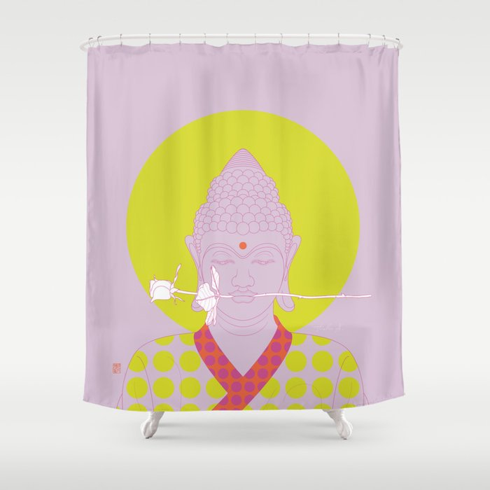 Buddha Make Love PopArtVersion Shower Curtain