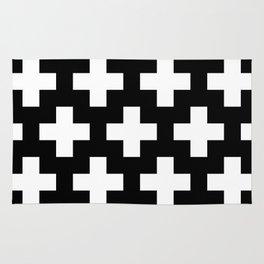 black-and-white pattern Yakshi Rug