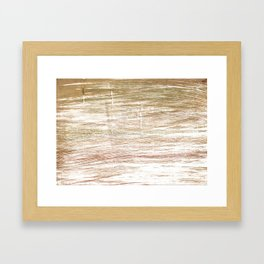 Light taupe abstract watercolor Framed Art Print