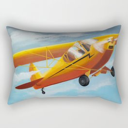 Yellow Plane, Blue Sky Rectangular Pillow