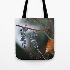 Grapes in a Morning Rain Tote Bag