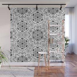Mandala_White and Black Wall Mural
