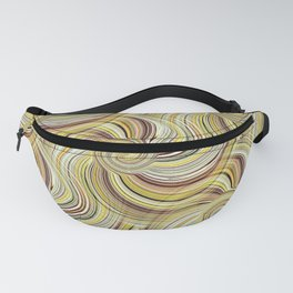 Swirls of golden Color Threads Fanny Pack