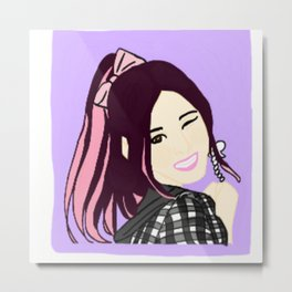 Knock Knock! Sana Purple Metal Print