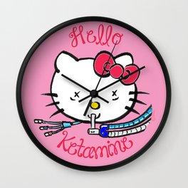 Hello Ketamine: ICU Nurse Humor Wall Clock