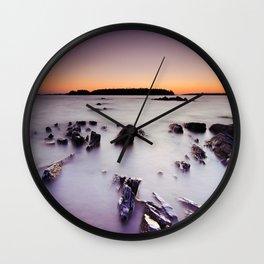 Shale Stones Wall Clock