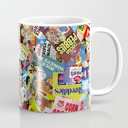 Cereal Boxes Collage Coffee Mug