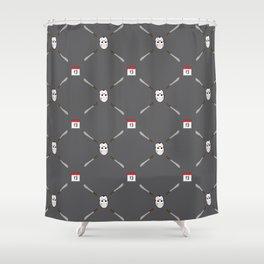 Horror Movie Pattern Shower Curtain