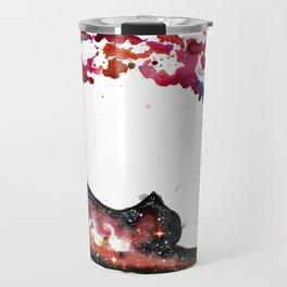 Rainbow Space Cat Travel Mug