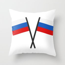 Russia flag Throw Pillow