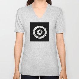 Black & White Target Unisex V-Neck