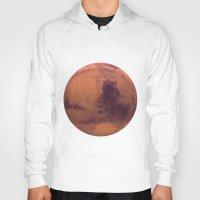 mars Hoodies featuring Mars by Tobias Bowman