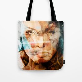 faces of Angelina Jolie Tote Bag