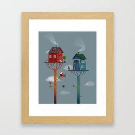 Tree Houses Framed Art Print