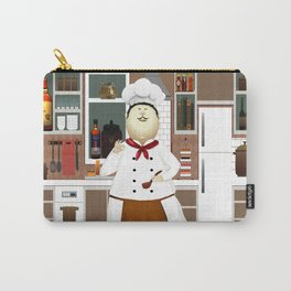 Funny Chef in a Big Hat in the Kitchen Carry-All Pouch