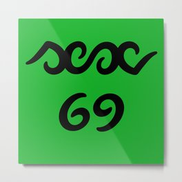 Funny sex 69 ambigram Metal Print