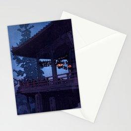 Evening in Nara by Hiroshi Yoshida - Japanese Vintage Ukiyo-e Woodblock Print Stationery Cards