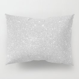 Pastel Grey Glitter Pillow Sham