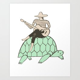 Turtle Man Art Print