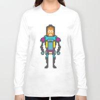 8bit Long Sleeve T-shirts featuring 8bit beard! by Dario Di Donato