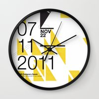 islam Wall Clocks featuring IGNS poster design by Matthew Billington