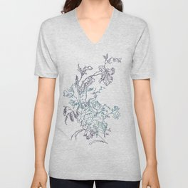 Flowers from an old Paris dish Unisex V-Neck