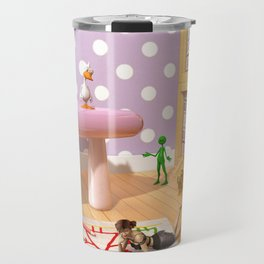 The Fun Corner - Where The Toys Live - Art for kids Travel Mug
