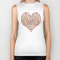 dot Biker Tanks featuring Dot... by DesignsByMarly