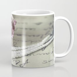 love letter with pearls and rose Coffee Mug