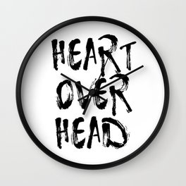 Heart over head Wall Clock