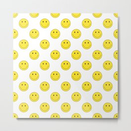 Smiley - White Metal Print