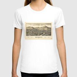 Aerial View of Walton, New York (1887) T-shirt
