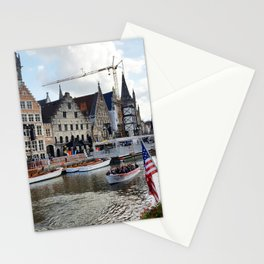 Festival on a Belgian Waterway Stationery Cards
